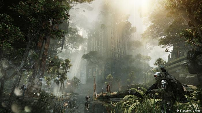 A scene from the videogame Crysis 3