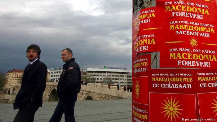 Symbolbild Mazedonien Streit um Namen