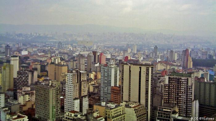 The skyline of Bom Retiro in Sao Paulo