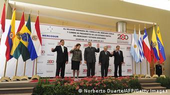 Paraguay Treffen 2011 Mercosur Beitritt Argentinien Brasilien Bolivien Ecuador
