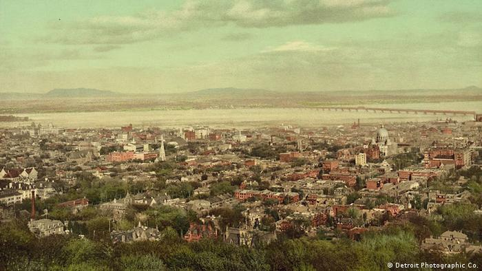 Montreal from Mount Royal 1 photomechanical print : photochrom, color. Copyright 1902 by Detroit Photographic Co.