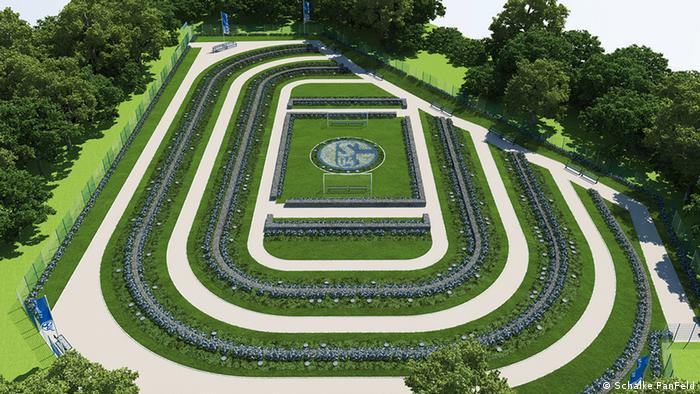 El cementerio de los aficionados del Schalke cuenta con más clientela que el del Hamburgo.