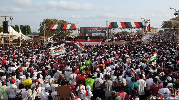 National Democratic Congress (NDC) campaign rally for 2012 elections Photo: Eszter Farkas dpa