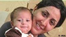 ترانه ترابی به همراه پسرش بارمان احسانی که فقط ۵ ماه سن دارد