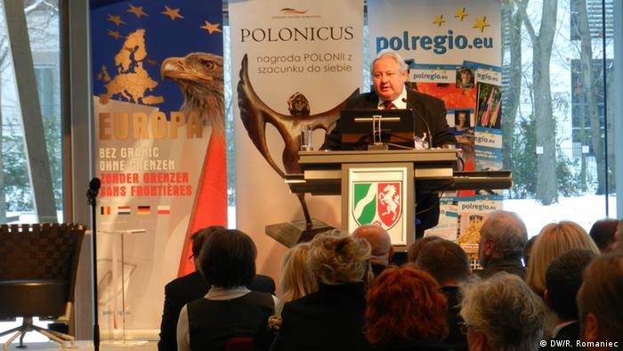 Kongress der Polen in Deutschland, Vorsitzender des Kongresses Wieslaw Lewicki Foto: DW/Rosalia Romaniec Ort: Berlin Landesvertretung NRW Datum: 08.12.2012