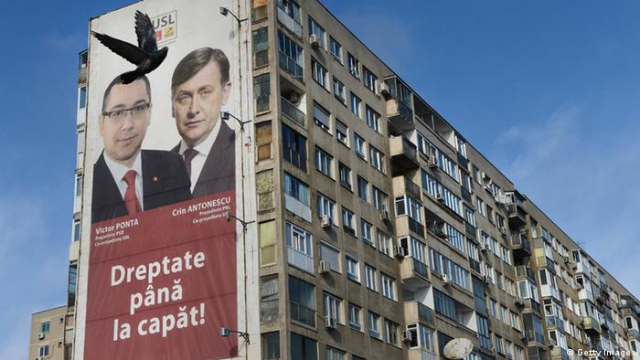 Victor Ponta Crin Antonescu afiș electoral (08.12.2012)
