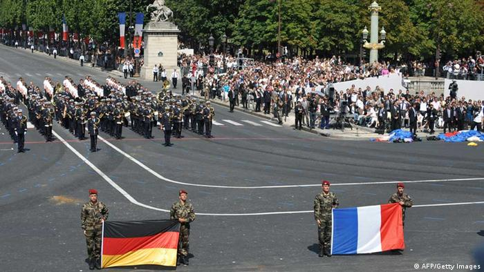 Franco-German Brigade parade (AFP/Getty Images)