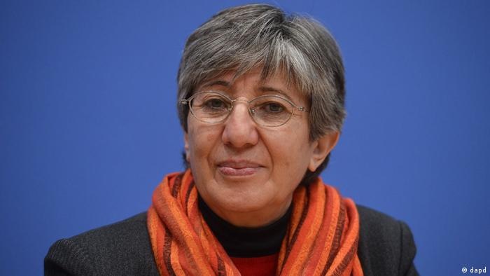 Sima Samar, in Berlin in December, 2012 at a press conference on human rights