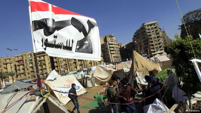 Demonstrationen in Kairo Ägypten