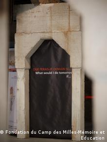 entrance to an exhibit at Camp des Milles