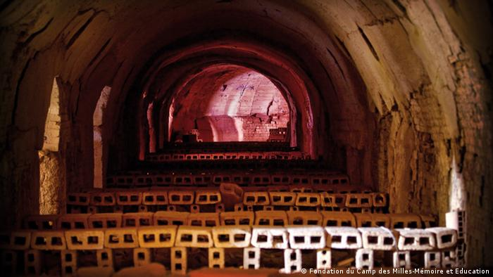Kiln at Camp des Milles was transformed into a makeshift theatre