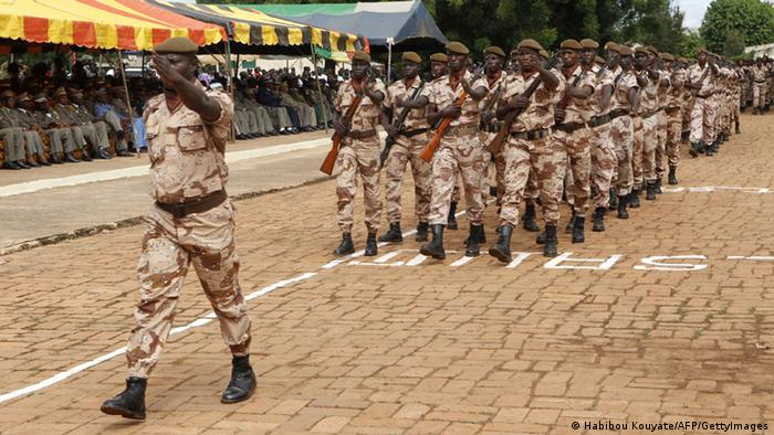 Soldiers march during the independence day celebrations in Bamako (Photo: HABIBOU KOUYATE/AFP/GettyImages)