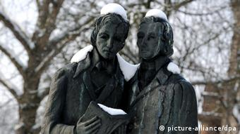 The memorial to the Brothers Grimm in the German city of Kassel
