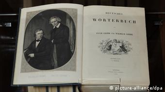 An edition of the brother's 'The German Dictionary' from 1854