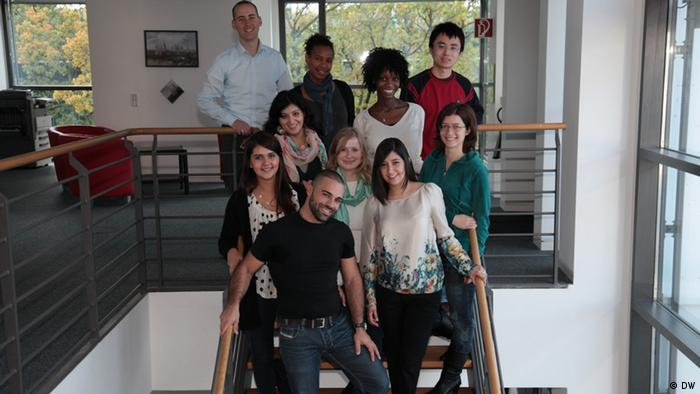 Deutsche Welle Inernational Trainees 2012-2014 (photo: DW).