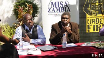 Mr Nalumino Nalumino, deputy chairman of the Media Institute of Southern Africa in Zambia. Copyright MISA: