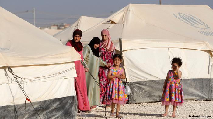 Flüchtlinge in einem Lager in Jordanien (Foto: Getty Images)