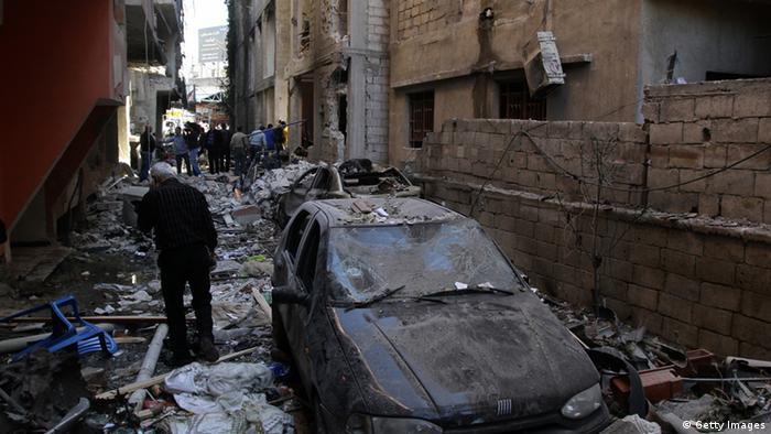 ویرانههای جنگ داخلی در دمشق پایتخت سوریه