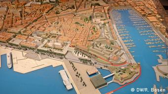A miniature model shows how the city of Marseille should look in 2020