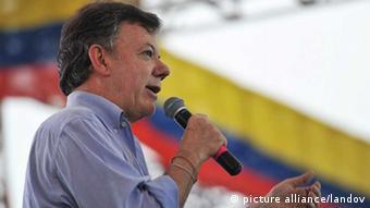 Porträt des kolumbianischen Präsidenten Juan Manuel Santos (Foto: XINHUA /LANDOV)