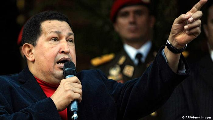 Venezuelan President Hugo Chavez speaks (Photo: LEO RAMIREZ/AFP/Getty Images)