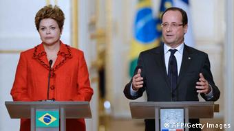 Dilma Rousseff und Francois Hollande (Foto: AFP/Gettty Images)