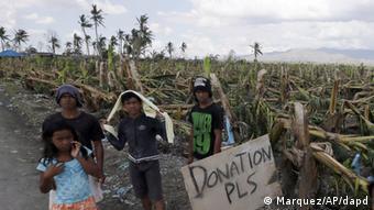 Precaria situación en el campo de Filipinas.