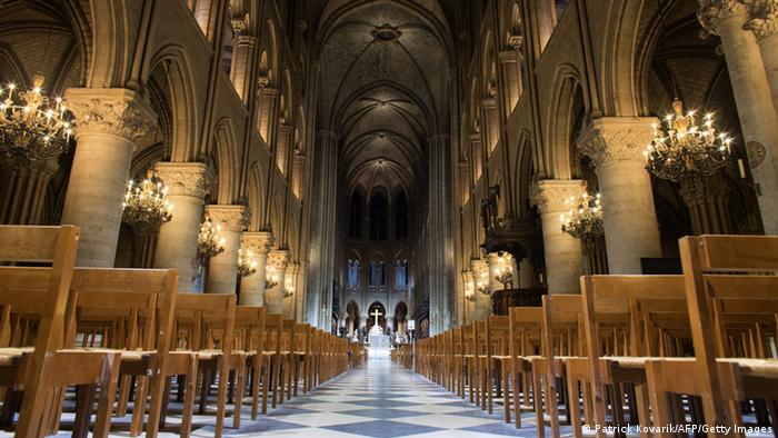 Interior of the Notre-Dame de Paris cathedral (Patrick Kovarik/AFP/Getty Images)