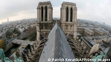 A view of the two towers of the Notre-Dame de Paris cathedral on November 30, 2012, in Paris. AFP PHOTO / PATRICK KOVARIK (Photo credit should read PATRICK KOVARIK/AFP/Getty Images)