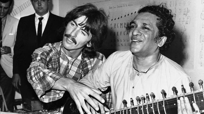 George Harrison and Ravi Shankar (AP)