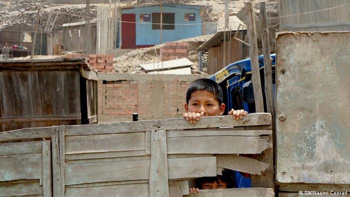 Huaycán, en las afueras de Lima, Perú.