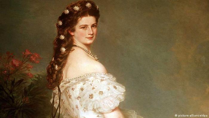 Das Ölgemälde von Franz Xaver Winterhalter zeigt Elisabeth, Kaiserin von Österreich und Königin von Ungarn