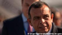 Honduras' Prime Minister Porfirio Lobo arrives at Jerez airport to attend the XXII Ibero-American Summit of Head of States and Governments on November 16, 2012. AFP PHOTO/ JORGE GUERRERO (Photo credit should read Jorge Guerrero/AFP/Getty Images)