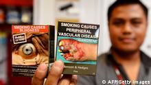 Zigaretten Packung Schachtel Australien rauchen Raucher Gift Gesundheit Gesundheitsgefährdung