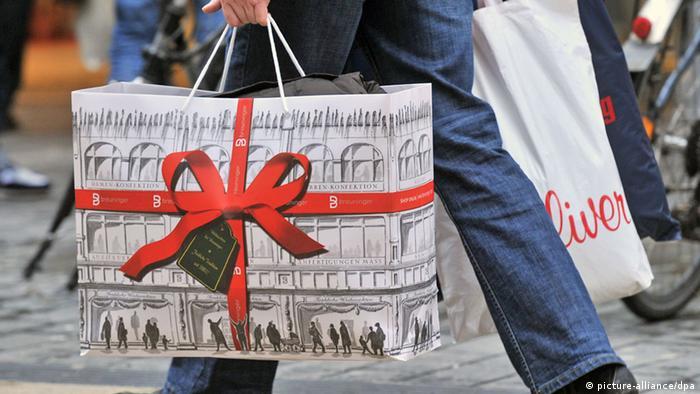 Weihnachten Einkauf Geschenk Tüte
