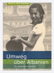 Book cover of Umweg über Albanien the German translation of Via Albania Copyright: DAFG Verlag