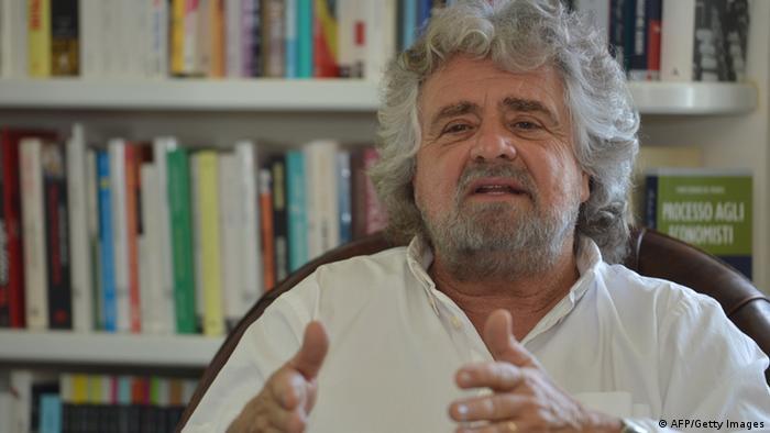 Beppe Grillo Piacenza Italien Komödiant Comedian Politiker