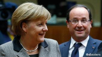 Germany's Chancellor Angela Merkel and France's President François Hollande attend a European Union leaders summit in Brussels December 13, 2012. (Photo: Francois Lenoir / Reuters)
