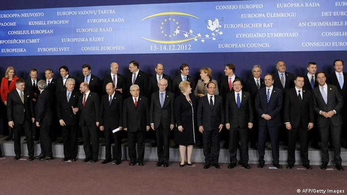 EU leaders in Brussels (Photo credit should read JOHN THYS/AFP/Getty Images)