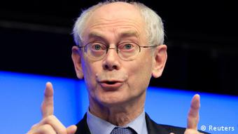 Van Rompuy PK beim EU Gipfel in Brüssel