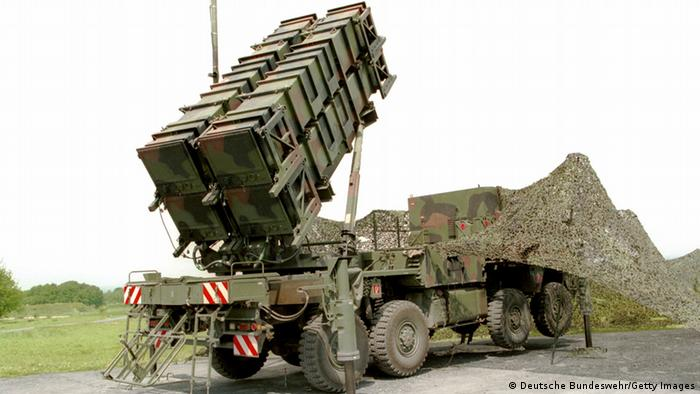 KOERBECKE, GERMANY - MAY 19, 1999: (FILE PHOTO) A Patriot anti-missle system stands ready for practice training May 19, 1999 in Koerbecke, Germany. The German military will loan two batteries of its Patriot systems to Israel, including 128 missiles, at the end of January 2003 to help Israel defend itself against possible Iraqi Scud missile attacks should a war against Iraq break out. (Photo by Deutsche Bundeswehr/Getty Images)