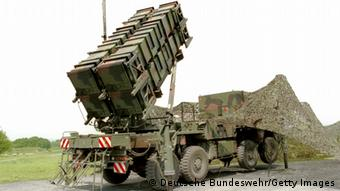 A Patriot anti-missle system stands ready for practice. (Photo by Deutsche Bundeswehr/Getty Images)