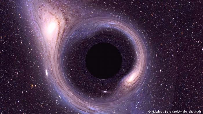 Илюстрация на черна дупка