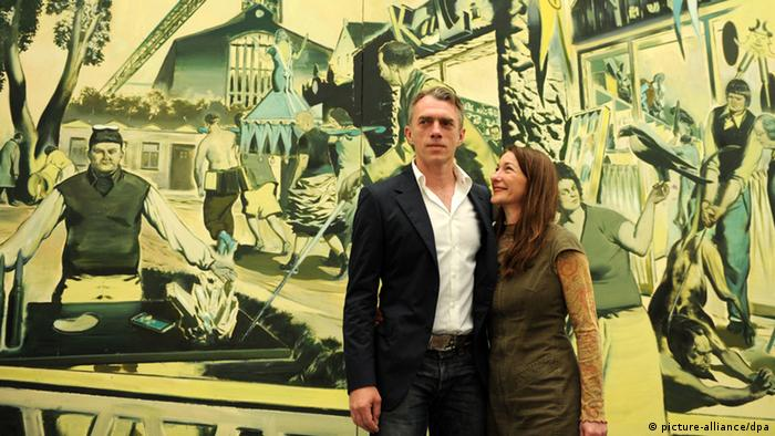 Painters Neo Rauch and Rosa Loy