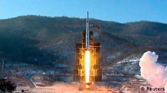 A video grab from KCNA shows the Unha-3 (Milky Way 3) rocket launching at the North Korea's West Sea Satellite Launch Site, at the satellite control centre in Cholsan county, North Pyongan province in this video released by KCNA in Pyongyang December 13, 2012. KCNA said the video was taken December 12, 2012. REUTERS/KCNA (NORTH KOREA - Tags: POLITICS MILITARY) FOR EDITORIAL USE ONLY. NOT FOR SALE FOR MARKETING OR ADVERTISING CAMPAIGNS. THIS IMAGE HAS BEEN SUPPLIED BY A THIRD PARTY. IT IS DISTRIBUTED, EXACTLY AS RECEIVED BY REUTERS, AS A SERVICE TO CLIENTS. NO THIRD PARTY SALES. NOT FOR USE BY REUTERS THIRD PARTY DISTRIBUTORS