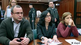 Илья и Вера Политковские и их адвокат Анна Ставицкая