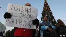 Russland Moskau Opposition Protest Anti Putin 15.12.2012