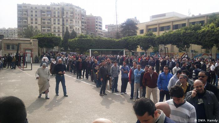 A huge number of people went to vote on the referendum. 15.12.2012, Heliopolis Copyright: DW/A. Hamdy
