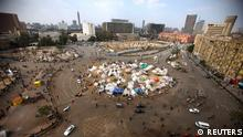 A view of Tahrir Square where protesters opposing Egyptian President Mohamed Mursi are camping, in Cairo December 16, 2012. Egyptians voted narrowly in favour of a constitution shaped by Islamists but opposed by other groups who fear it will deepen divisions, officials in rival camps said on Sunday after the first round of a two-stage referendum. REUTERS/Khaled Abdullah (EGYPT - Tags: POLITICS ELECTIONS CIVIL UNREST TPX IMAGES OF THE DAY)