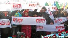 Kasachstan Demonstration Opposition